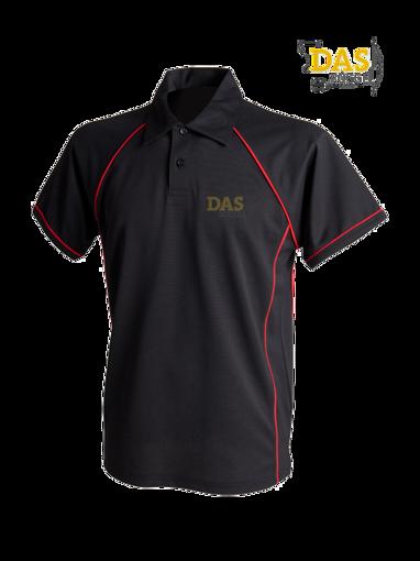 Afbeelding van Polo Shirt  FH370 Performance Black-Red